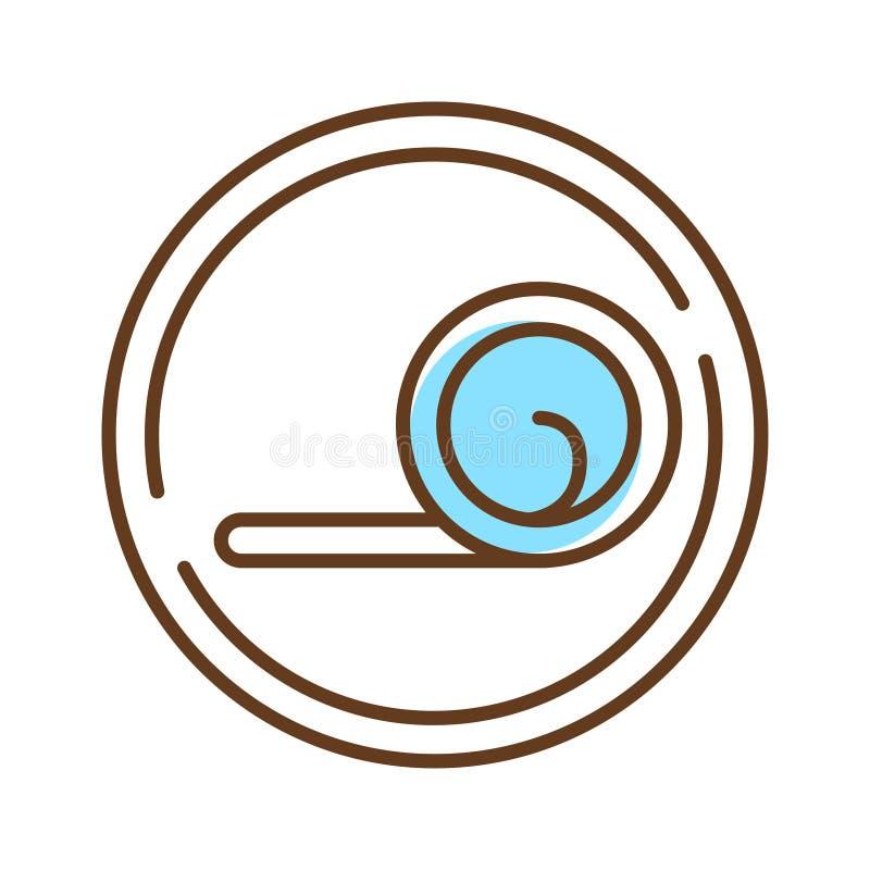 Ergonomisch mattorkleurlijnpictogram Werkt aan de vorm en grootte van de mens Ontworpen met flexibiliteit in gedachten Pictogram  vector illustratie