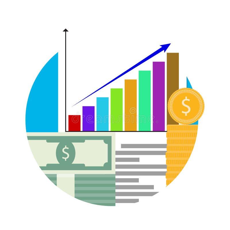 Erhöhen Sie sich der Finanzhauptstadt stock abbildung