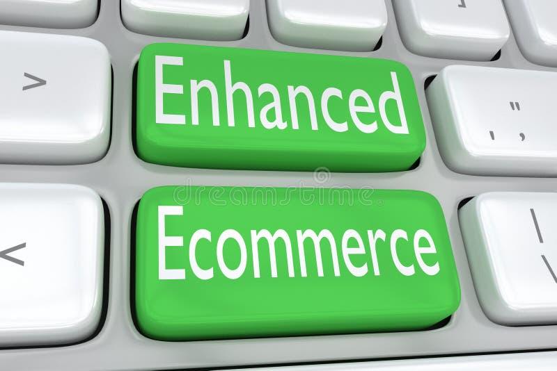 Erhöhtes Konzept des elektronischen Geschäftsverkehrs vektor abbildung