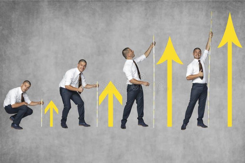 Erhöhung meiner Firma lizenzfreies stockfoto