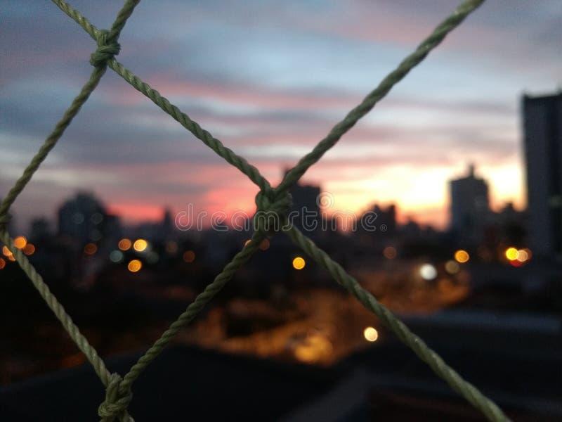 Erhabener Sonnenuntergang lizenzfreies stockfoto