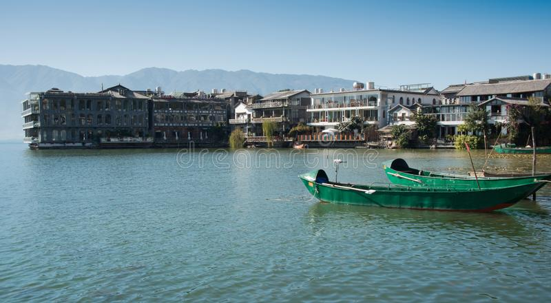 erhai湖沿海风景  库存照片