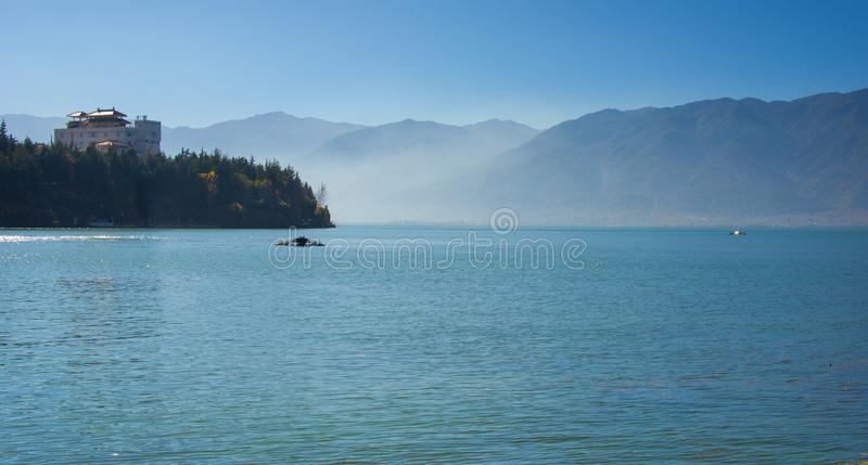 erhai湖沿海风景  库存图片