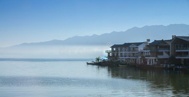 erhai湖沿海风景  免版税图库摄影