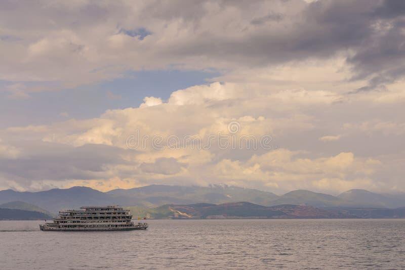 Erhai jeziora krajobraz zdjęcia royalty free
