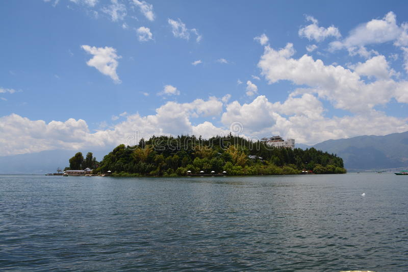 Erhai lake arkivfoton