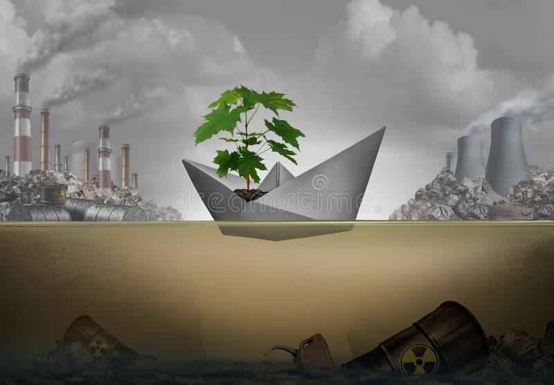 Erhalt der Umwelt lizenzfreie abbildung