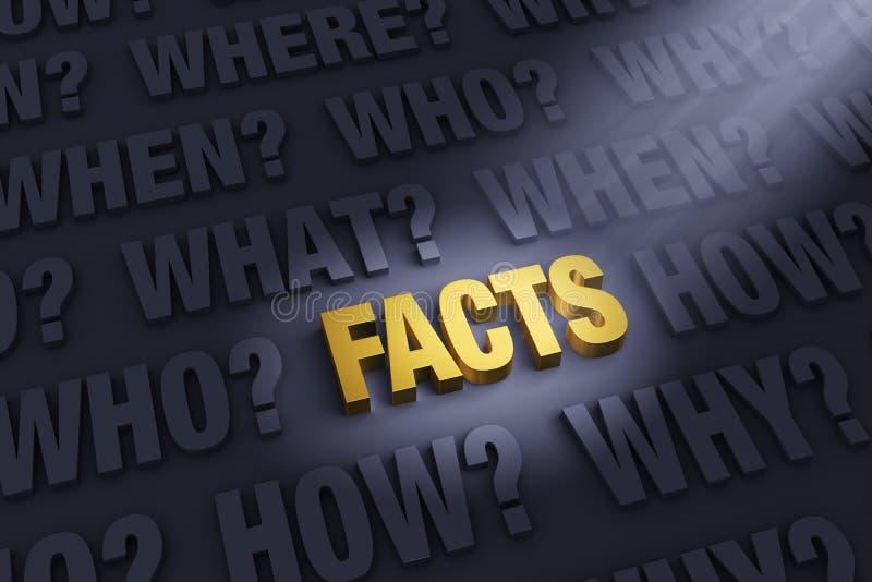 Erhalten der Tatsachen lizenzfreie abbildung