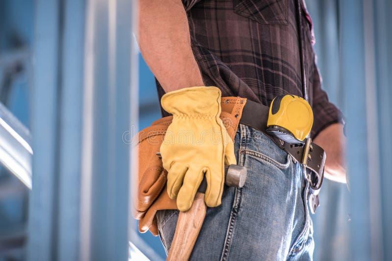 Erhalten des Bau-Jobs stockfoto