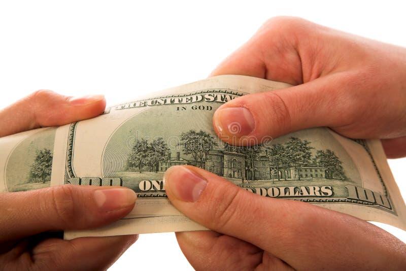 Erhalten des Geldes lizenzfreie stockbilder