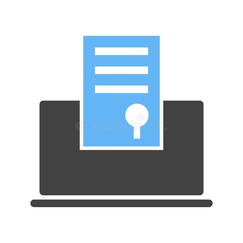 Erhalten Sie Grad online II lizenzfreie abbildung