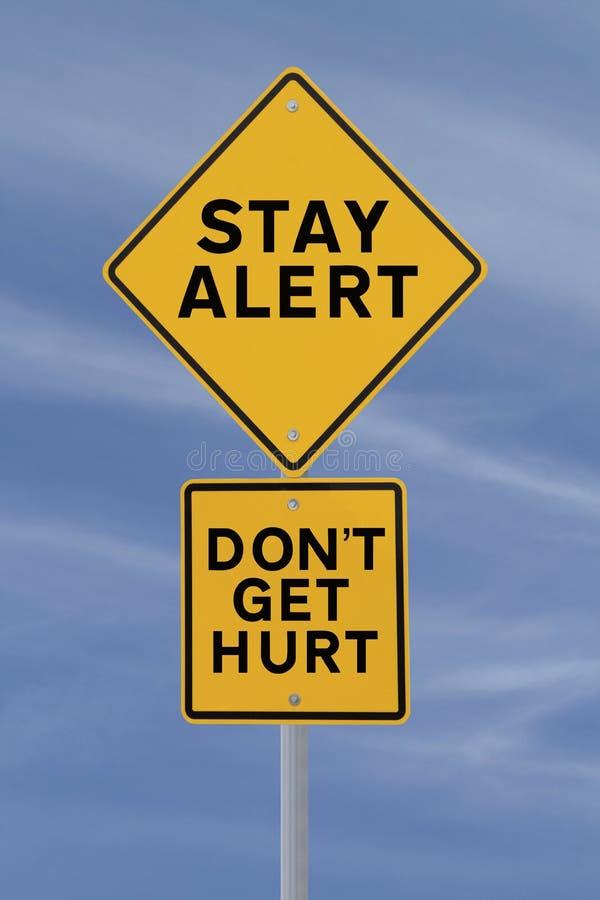 Erhalten Sie nicht verletzt! lizenzfreie stockfotos