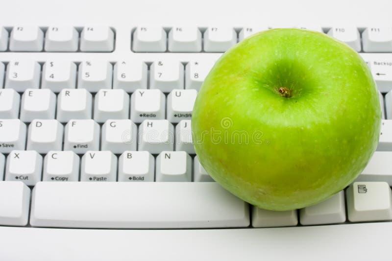 Erhalten Sie Rat auf gesunden Lebensstilen auf Zeile lizenzfreies stockfoto