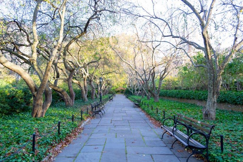 Erhaltender Garten ist der einzige formale Garten im Central Park lizenzfreies stockbild