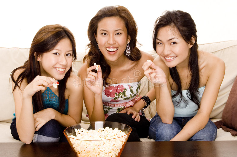 Erhaltenes Popcorn stockbild