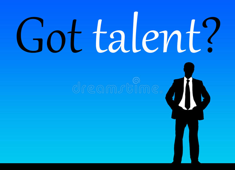 Erhaltenes Talent? stock abbildung