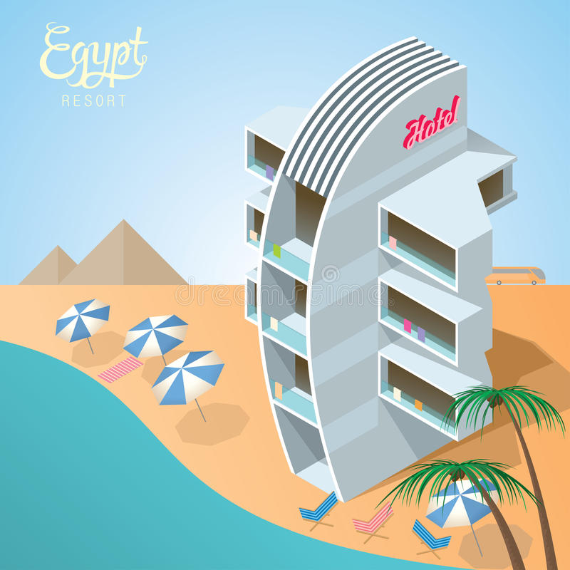 Erholungsort Ägypten-Roten Meers vektor abbildung
