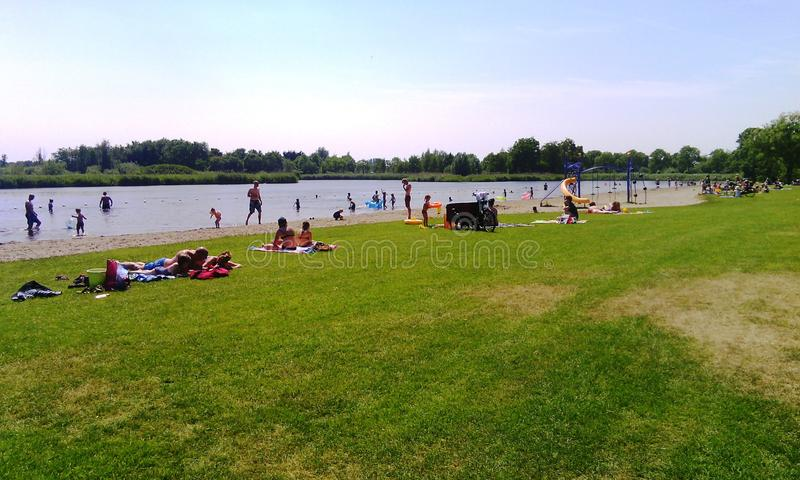 Erholungsort De Hoge Dijk, Holland, die Niederlande stockbild