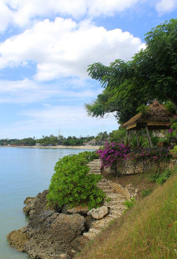 Erholungsort in der Insel Indonesien stockfotografie