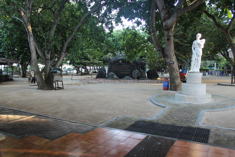 Erholungsort Pulau Bidadari lizenzfreie stockfotografie