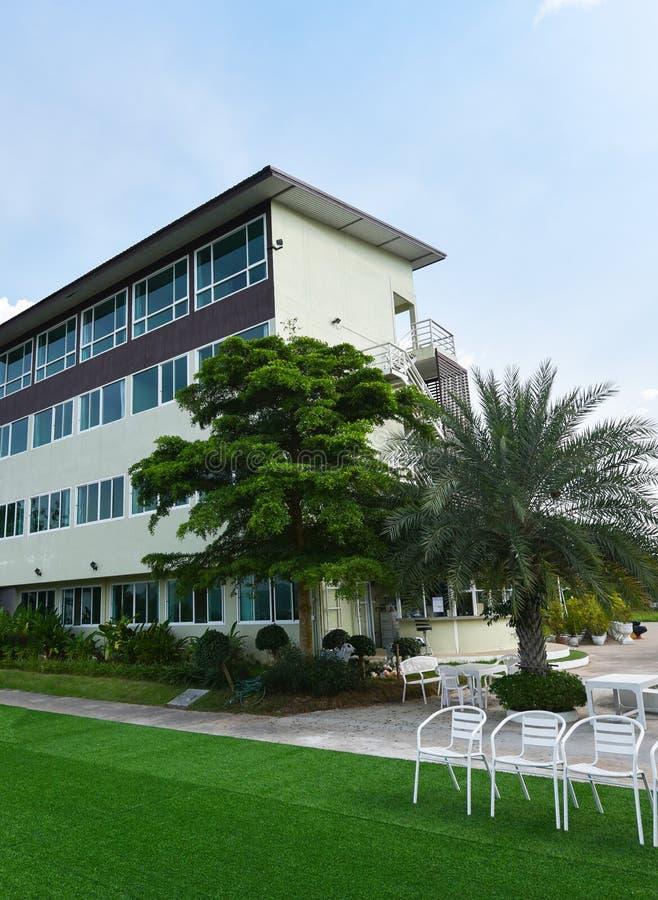 Erholungsorte und Hotel stockbild