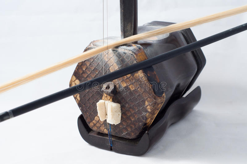 Erhu fiddle. Erhu is called chinese violin ,in the traditional chinese music , Erhu occupies a very important position royalty free stock photo