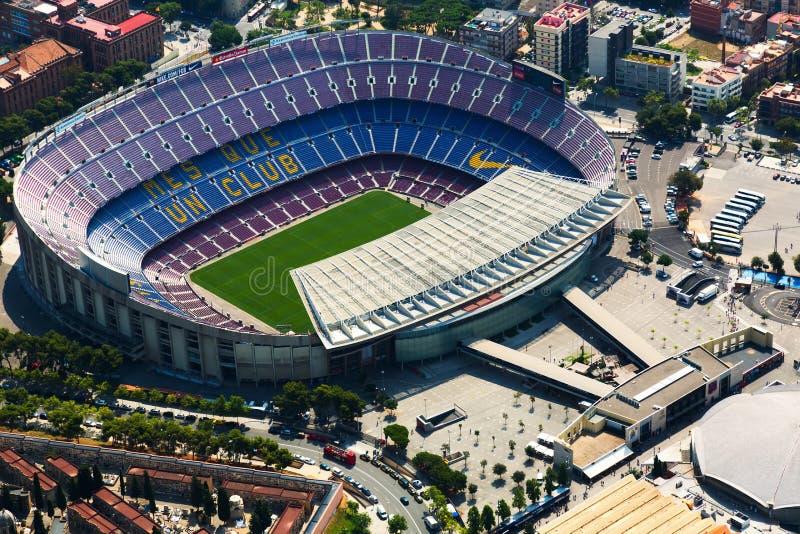 Erialmening van het grootste stadion van Camp Nou van Barcelona royalty-vrije stock afbeeldingen