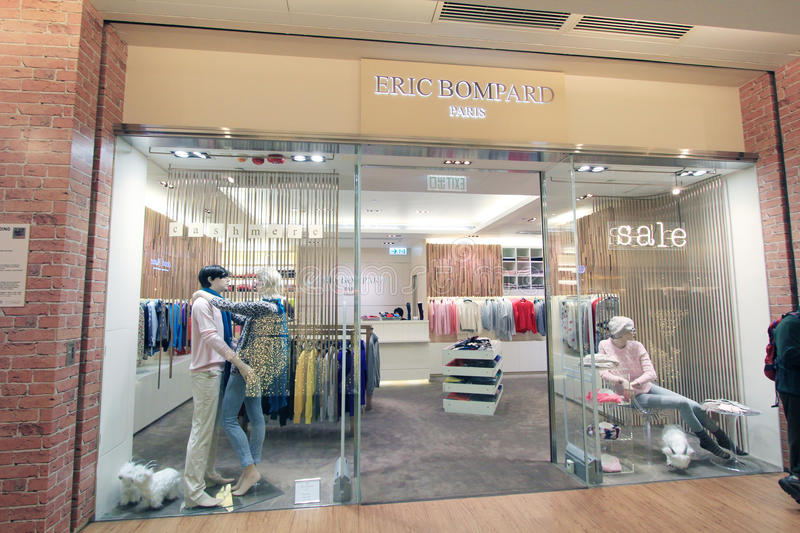 Eric bompard shop in hong kong. Eric bompard shop, located in K11 Mall, Tsim Sha Tusi, Hong Kong. eric bompard is a clothes retailer in Hong Kong royalty free stock photos