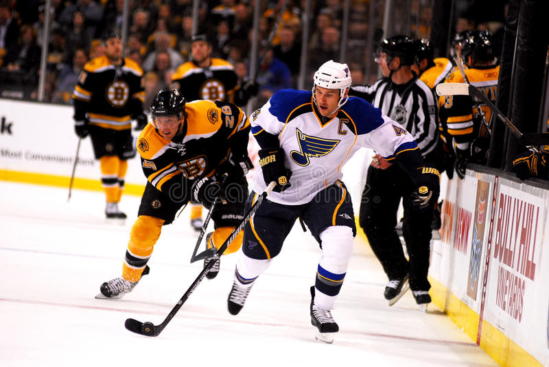 Eric Brewer St. Louis Blues. Former St. Louis Blues defenseman Eric Brewer royalty free stock image