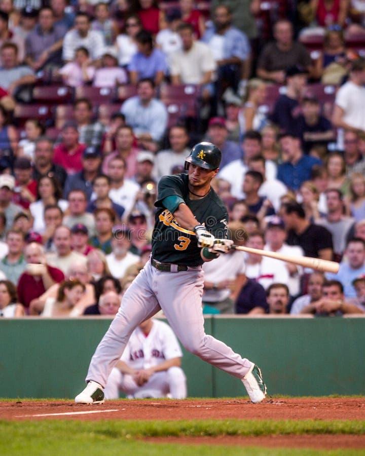Eric Chavez, 3B d'Oakland A image stock