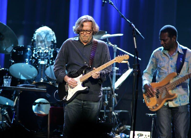 Eric Clapton wykonuje w koncercie obrazy royalty free