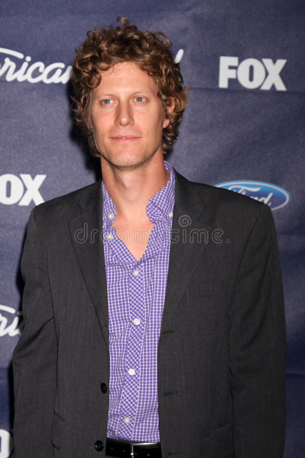 Eric Sheffer Stevens arrives at the American Idol Season 11 Top 13 Party royalty free stock photography