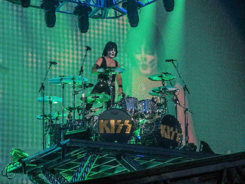 Eric Singer Drummer of Rock Band Kiss stock photo