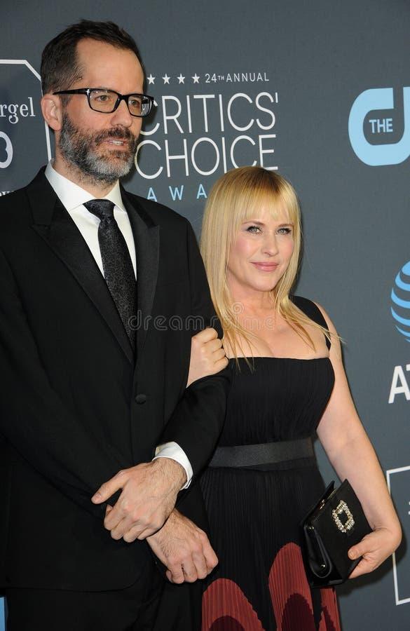 Eric White et Patricia Arquette image libre de droits