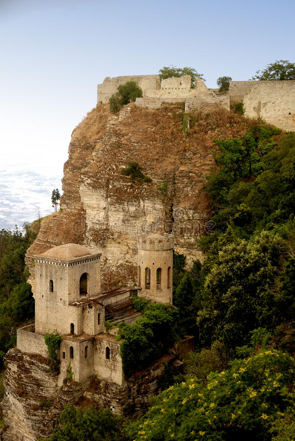 erice西西里岛 库存照片