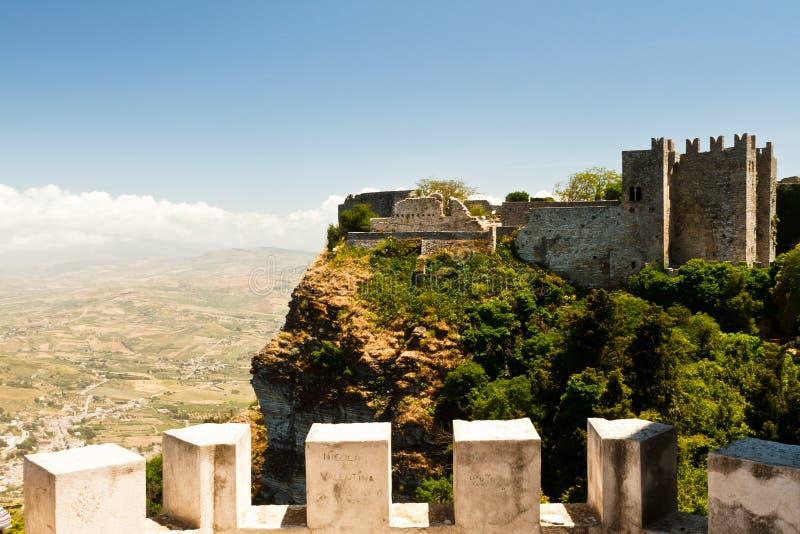 Erice in Sicilië royalty-vrije stock afbeeldingen