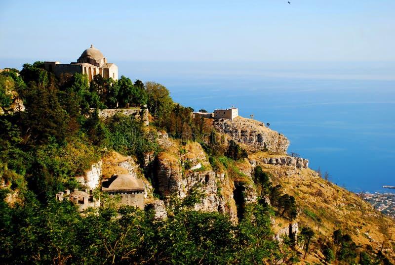 Erice (Sicilië) stock foto