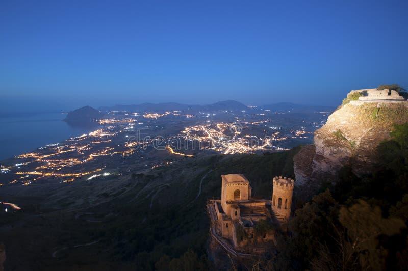 Erice, Trapan en Sicilia fotos de archivo libres de regalías