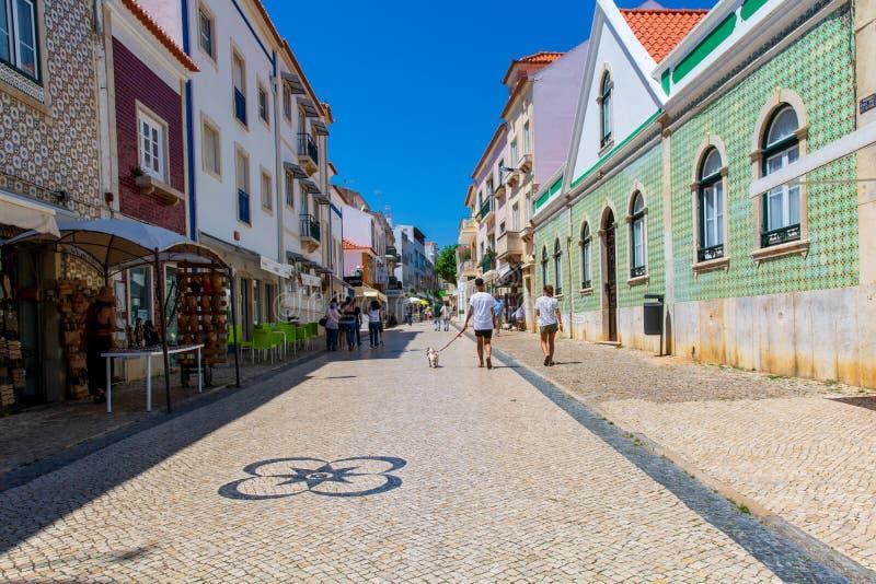 Ericeira村庄,葡萄牙 免版税库存照片