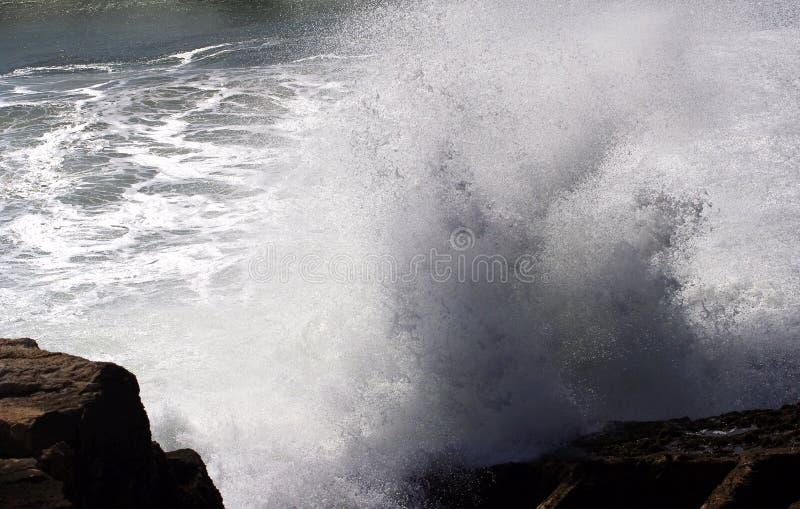 Ocean waves. Coast of Portugal, Ericeira stock photos