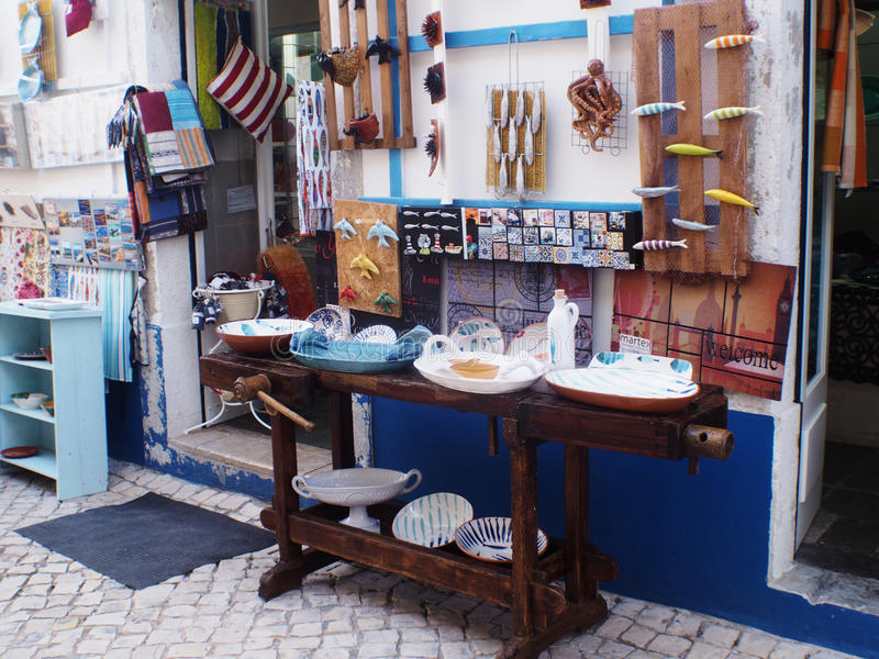 ERICEIRA VILLAGE TIPICAL HANDCRAFT royalty free stock photo