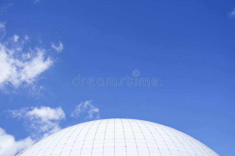 Ericsson Globe Arena Stockholm. Top view of Ericsson Globe Arena Stockholm. Huge stadium for sports, events, concerts and other entertainments royalty free stock image