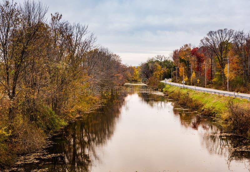 Erie kanal - Vischer färja, New York royaltyfria foton