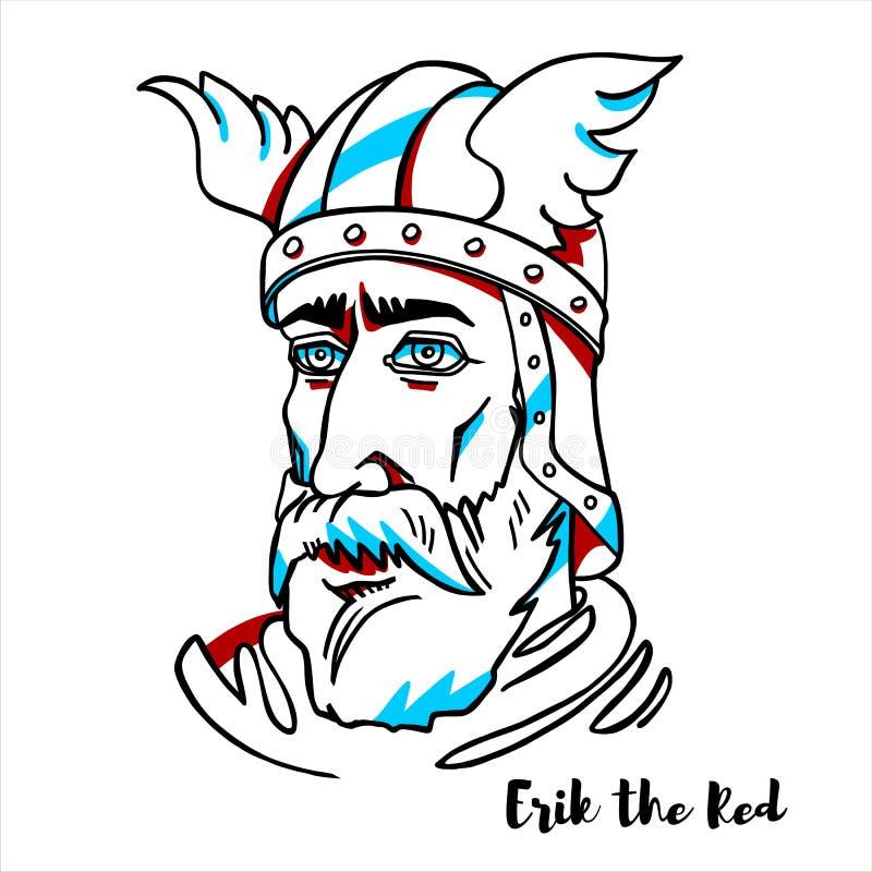 Erik den röda ståenden royaltyfri illustrationer
