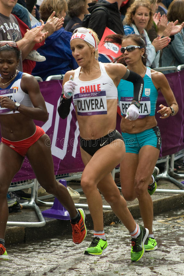 Download Erika Olivera And Maria Peralta - Olympic Marathon Editorial Photo - Image: 26100426