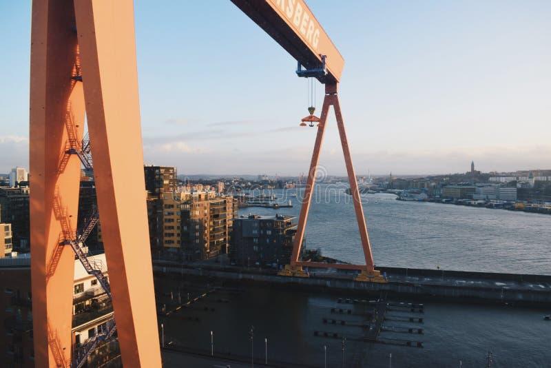 Eriksberg crane stock photography
