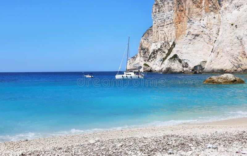 Erimitis beach Paxos island Greece stock images