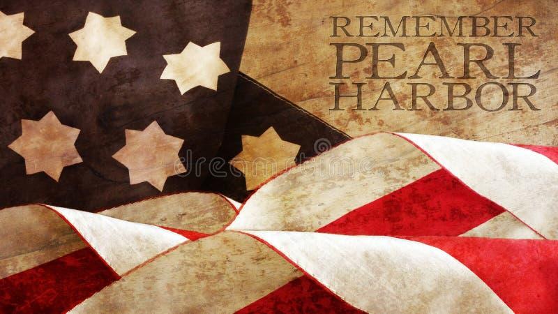 Erinnern Sie sich an Pearl Harbor Flaggen-Wellen lizenzfreies stockbild