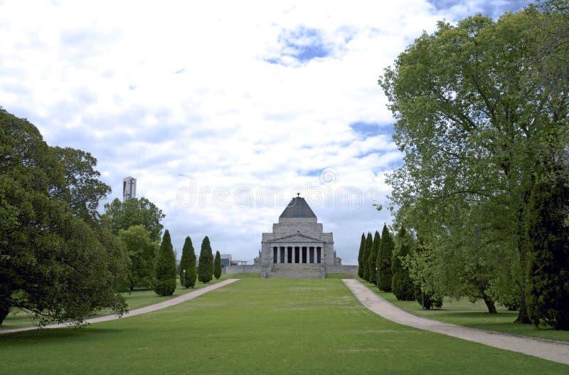 Erinnerung-Krieg-Gebäude in Melbourne lizenzfreies stockfoto