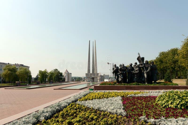 Erinnerungs- komplexe ` Befreier von Vitebsk - sowjetische Soldaten, Anhänger und Untertage-` lizenzfreies stockbild